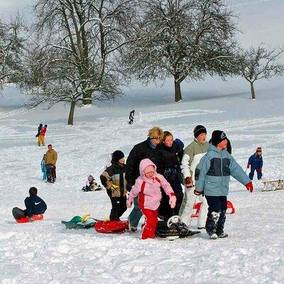 Rodeln und Skifahren im Odenwald
