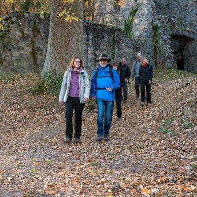 Wandern an der Burgruine Rodenstein